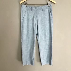 S'MaxMara scalloped hem cropped pants